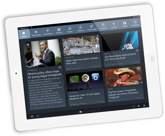 Introducing a brand new, redesigned News360 app for your iPad!