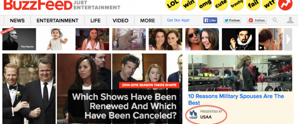 How BuzzFeed (The Inspiration for Howe and Teuful's Mock Site) Does Native Ads