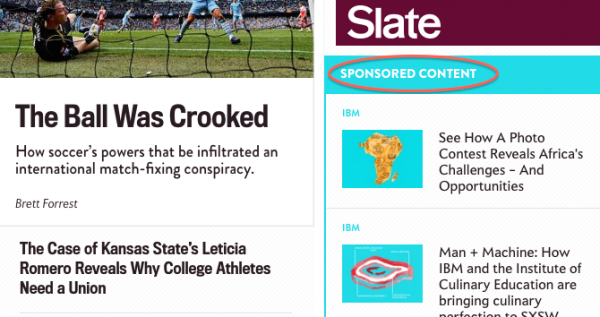 Slate's Format for Sponsored Content